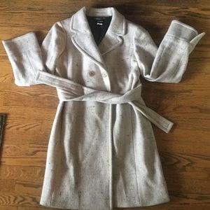 j crew Size 10 Peacoat / Trench Coat Cream Colored